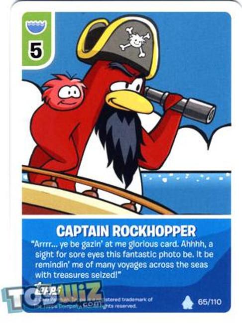 Club Penguin Card-Jitsu Basic Series 1 Common Captain Rockhopper #65