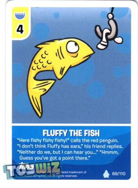 Club Penguin Card-Jitsu Basic Series 1 Common Fluffy the Fish #69