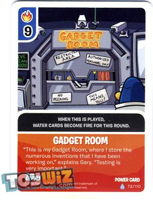 Club Penguin Card-Jitsu Basic Series 1 Foil Power Card Gadget Room #72