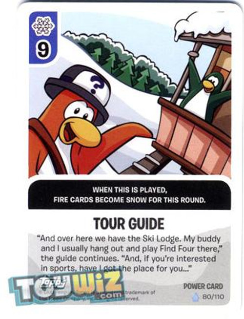 Club Penguin Card-Jitsu Basic Series 1 Foil Power Card Tour Guide #80