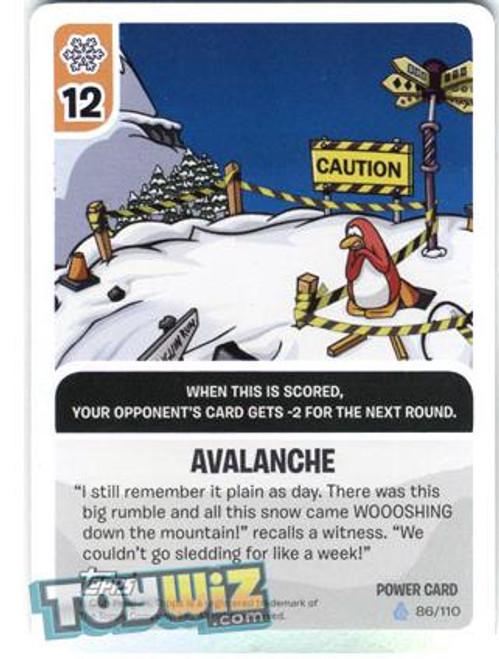 Club Penguin Card-Jitsu Basic Series 1 Foil Power Card Avalanche #86