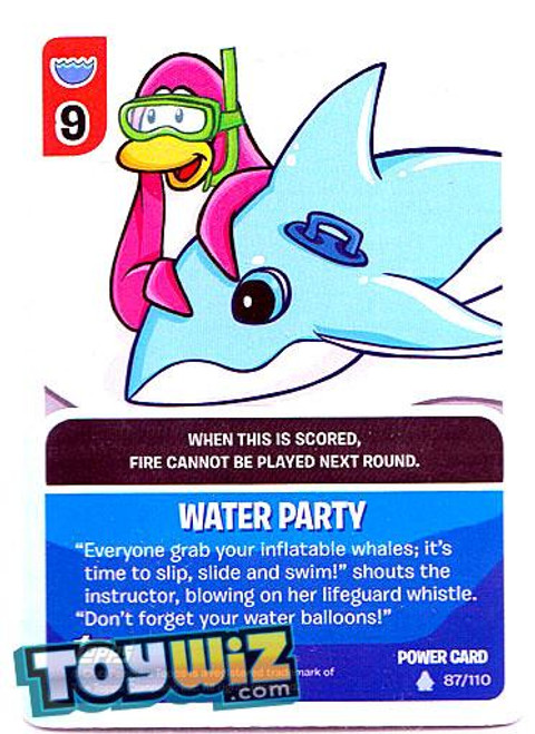 Club Penguin Card-Jitsu Basic Series 1 Foil Power Card Water Party #87