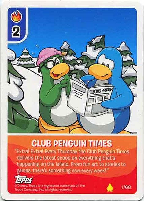 Card-Jitsu Basic Series 2 Common Club Penguin Times #1