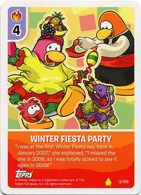 Club Penguin Card-Jitsu Basic Series 2 Common Winter Fiesta Party #3