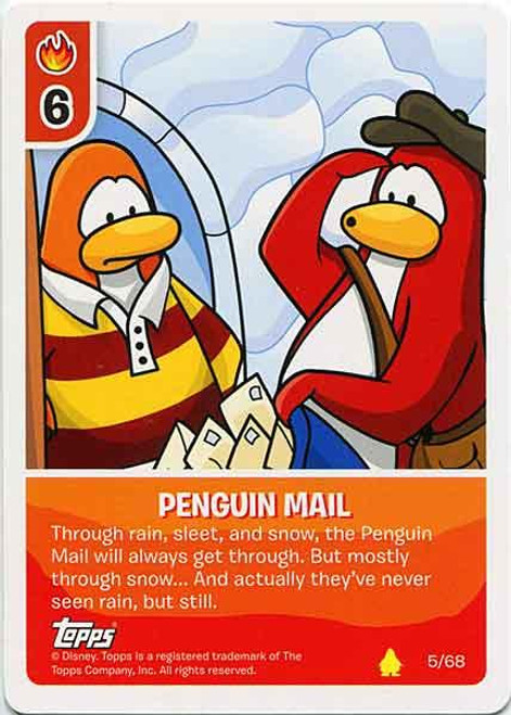Club Penguin Card-Jitsu Basic Series 2 Common Penguin Mail #5