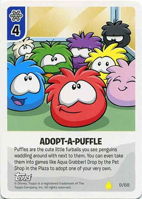 Club Penguin Card-Jitsu Basic Series 2 Common Adopt-A-Puffle #9