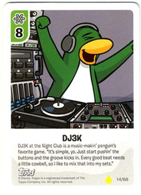 Club Penguin Card-Jitsu Basic Series 2 Common DJ3K #14