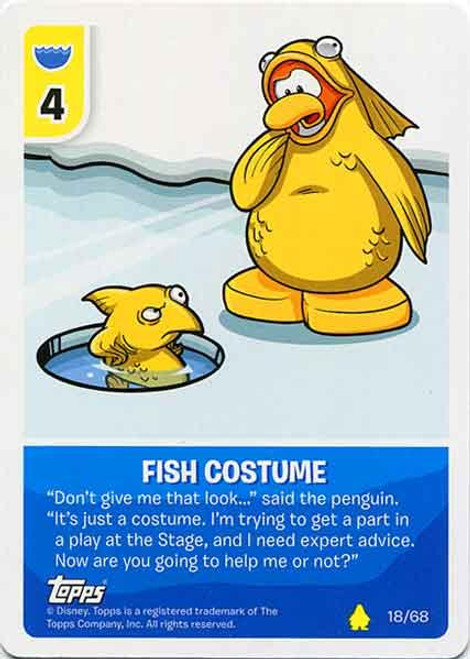 Club Penguin Card-Jitsu Basic Series 2 Common Fish Costume #18