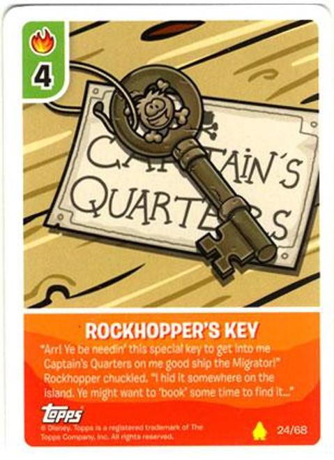 Club Penguin Card-Jitsu Basic Series 2 Common Rockhopper's Key #24
