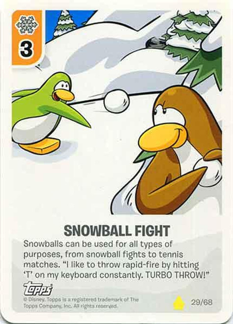 Club Penguin Card-Jitsu Basic Series 2 Common Snowball Fight #29