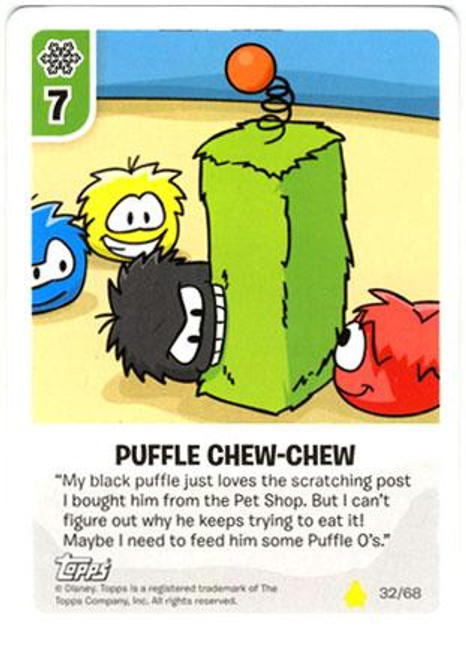 Club Penguin Card-Jitsu Basic Series 2 Common Puffle Chew-Chew #32