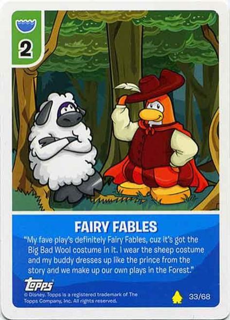 Club Penguin Card-Jitsu Basic Series 2 Common Fairy Fables #33