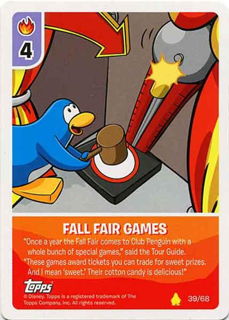 Club Penguin Card-Jitsu Basic Series 2 Common Fall Fair Games #39