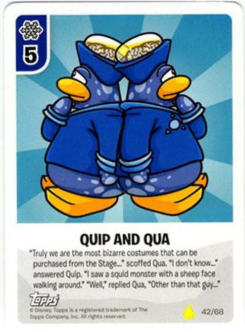 Club Penguin Card-Jitsu Basic Series 2 Common Quip and Qua #42
