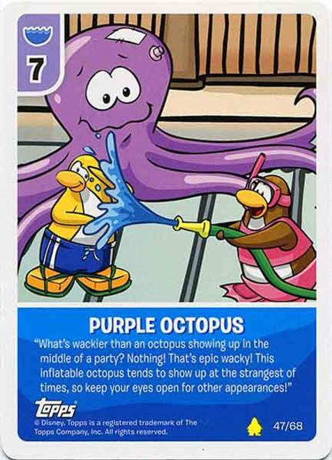 Club Penguin Card-Jitsu Basic Series 2 Common Purple Octopus #47