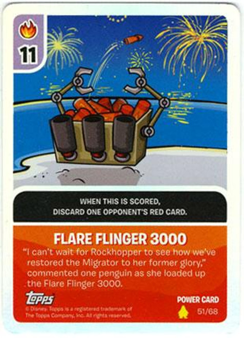 Club Penguin Card-Jitsu Basic Series 2 Foil Power Card Flare Flinger 3000 #51