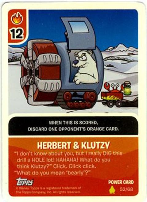 Club Penguin Card-Jitsu Basic Series 2 Foil Power Card Herbert & Klutzy #52