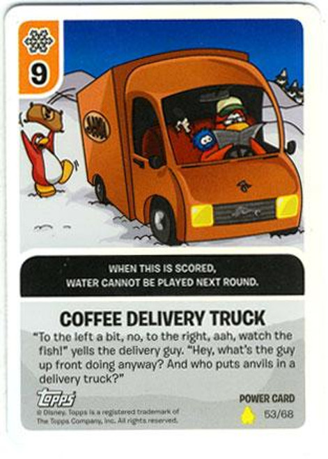 Club Penguin Card-Jitsu Basic Series 2 Foil Power Card Coffee Delivery Truck #53