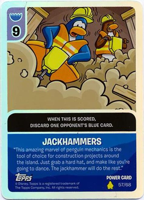 Club Penguin Card-Jitsu Basic Series 2 Foil Power Card Jackhammers #57