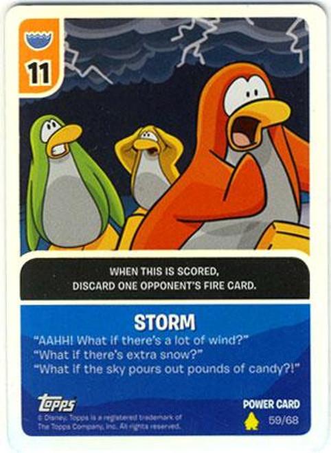 Club Penguin Card-Jitsu Basic Series 2 Foil Power Card Storm #59