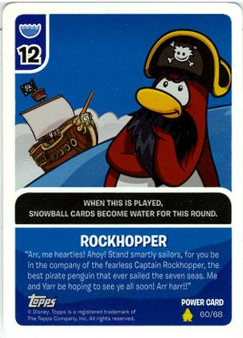Club Penguin Card-Jitsu Basic Series 2 Foil Power Card Rockhopper #60