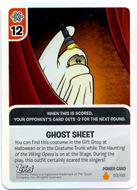 Club Penguin Card-Jitsu Fire Series 3 Foil Power Card Ghost Sheet #53