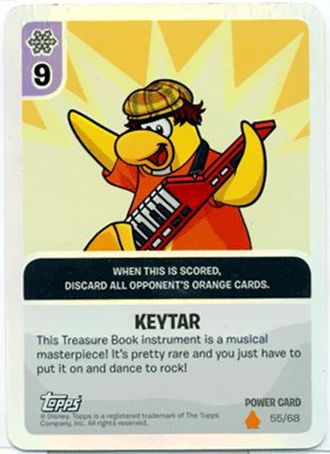 Club Penguin Card-Jitsu Fire Series 3 Foil Power Card Keytar #55