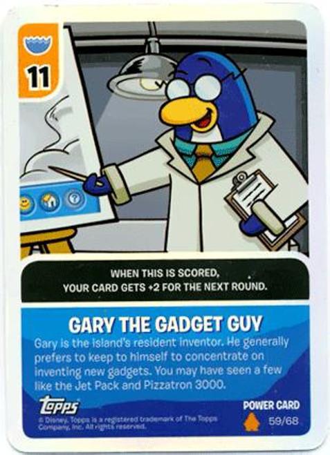 Club Penguin Card-Jitsu Fire Series 3 Foil Power Card Gary the Gadget Guy #59