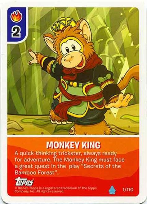 Club Penguin Card-Jitsu Water Series 4 Common Monkey King #1