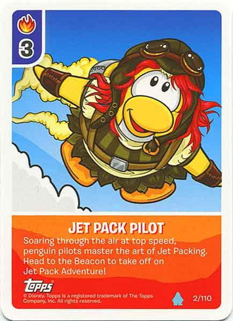 Club Penguin Card-Jitsu Water Series 4 Common Jet Pack Pilot #2