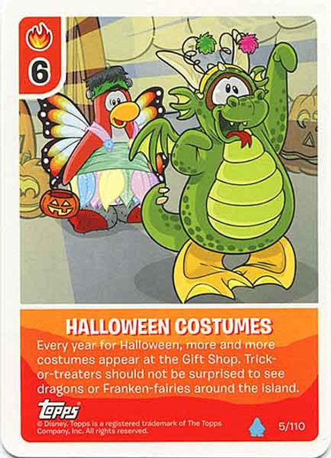 Club Penguin Card-Jitsu Water Series 4 Common Halloween Costumes #5