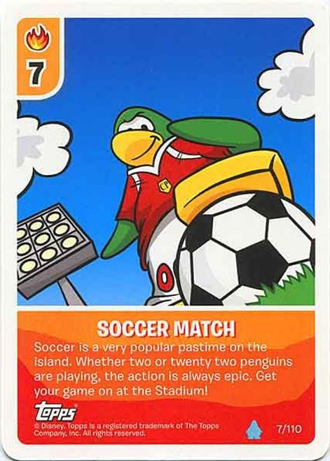 Club Penguin Card-Jitsu Water Series 4 Common Soccer Match #7