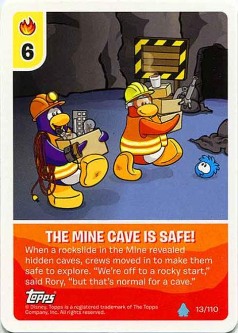 Club Penguin Card-Jitsu Water Series 4 Common The Mine Cave Is Safe #13