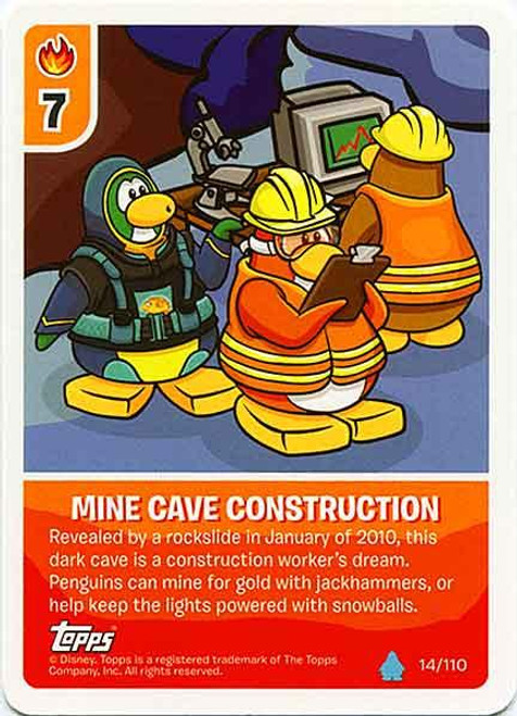 Club Penguin Card-Jitsu Water Series 4 Common Mine Cave Construction #14