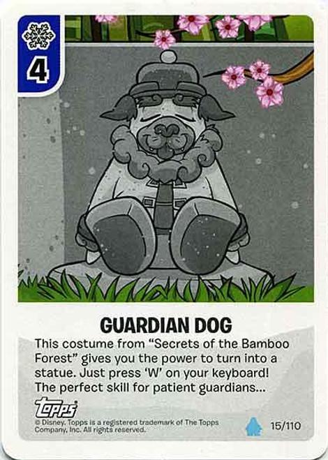 Club Penguin Card-Jitsu Water Series 4 Common Guardian Dog #15