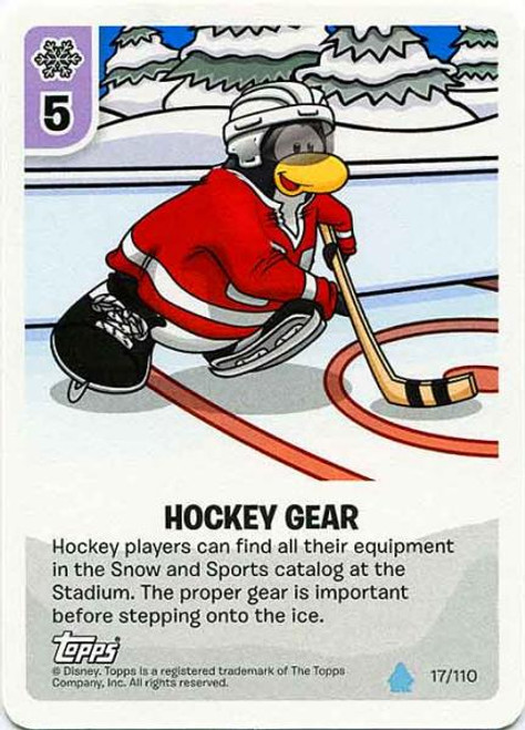 Club Penguin Card-Jitsu Water Series 4 Common Hockey Gear #17