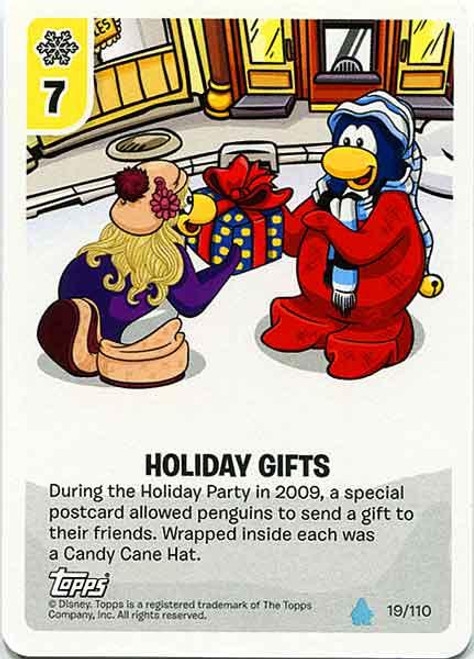 Club Penguin Card-Jitsu Water Series 4 Common Holiday Gifts #19
