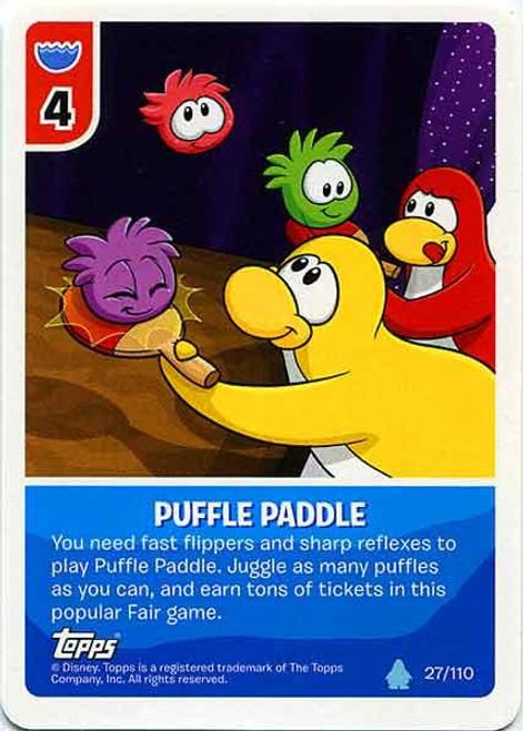 Club Penguin Card-Jitsu Water Series 4 Common Puffle Paddle #27