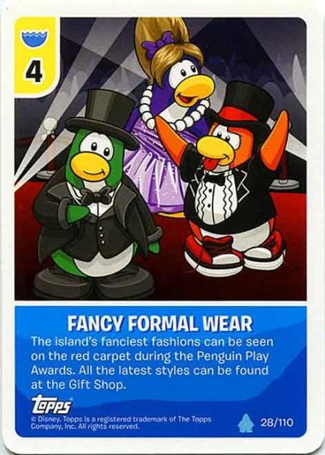 Club Penguin Card-Jitsu Water Series 4 Common Fancy Formal Wear #28