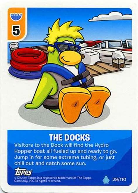 Club Penguin Card-Jitsu Water Series 4 Common The Docks #29