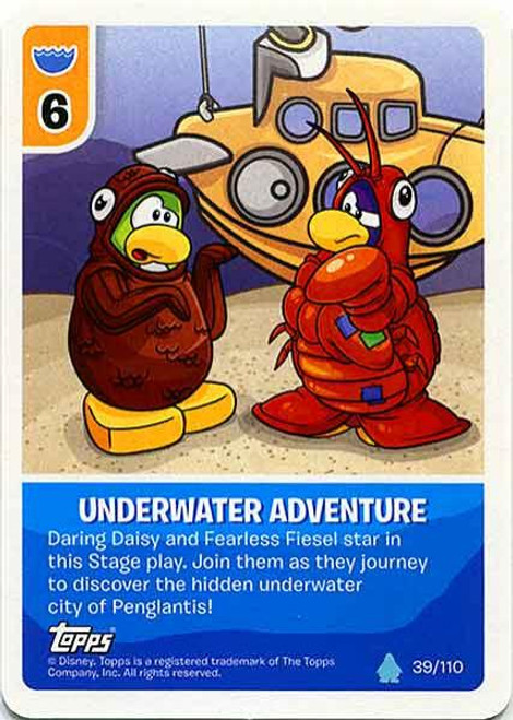 Club Penguin Card-Jitsu Water Series 4 Common Underwater Adventure #39