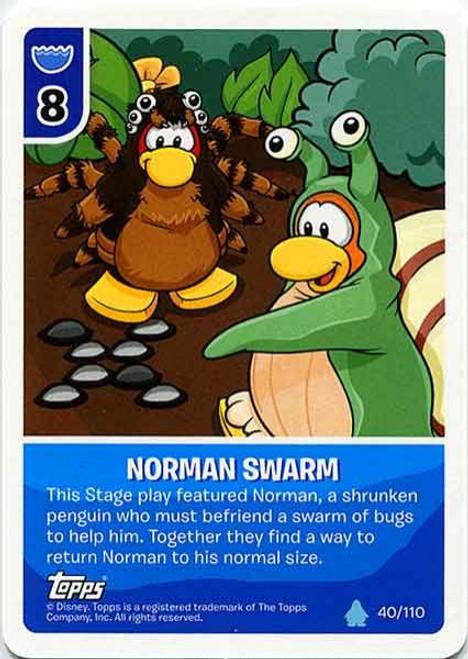 Club Penguin Card-Jitsu Water Series 4 Common Norman Swarm #40