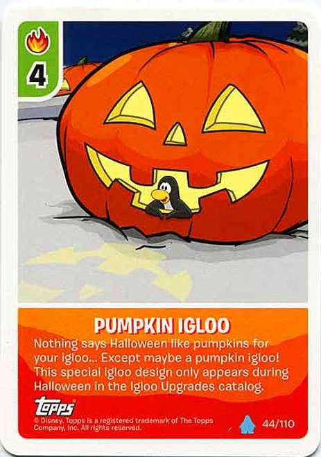 Club Penguin Card-Jitsu Water Series 4 Common Pumpkin Igloo #44