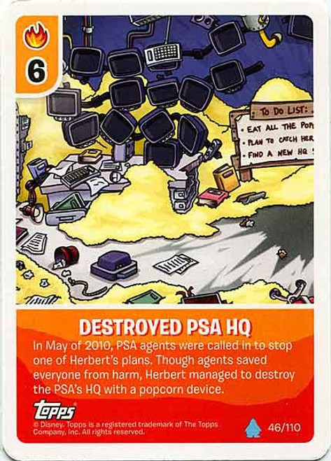 Club Penguin Card-Jitsu Water Series 4 Common Destroyed PSA HQ #46
