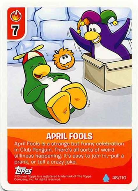 Club Penguin Card-Jitsu Water Series 4 Common April Fools #48