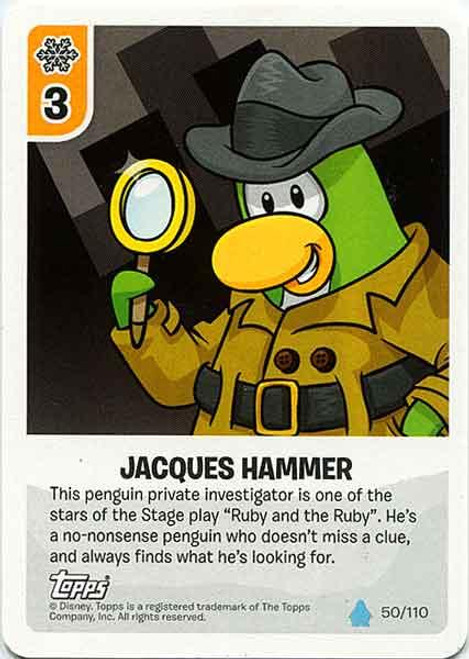 Club Penguin Card-Jitsu Water Series 4 Common Jacques Hammer #50