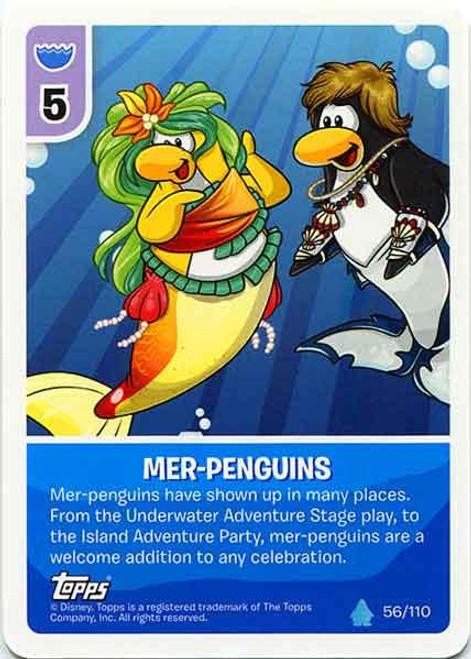 Club Penguin Card-Jitsu Water Series 4 Common Mer-Penguins #56