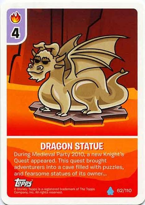 Club Penguin Card-Jitsu Water Series 4 Common Dragon Statue #62