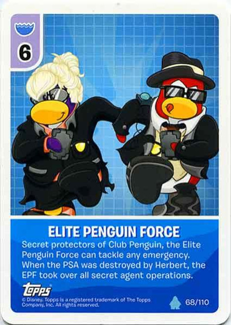 Club Penguin Card-Jitsu Water Series 4 Common Elite Penguin Force #68