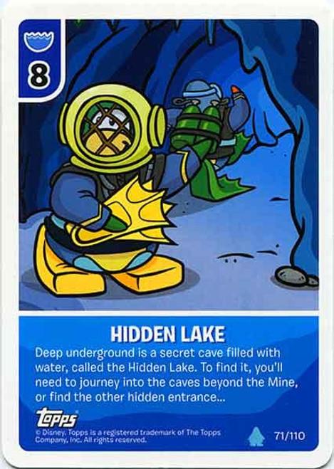 Club Penguin Card-Jitsu Water Series 4 Common Hidden Lake #71